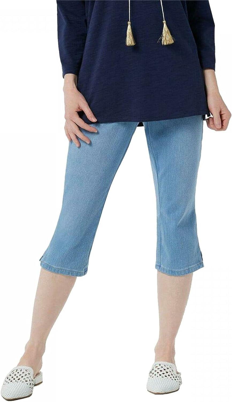 Belle by Kim Gravel Plus Petite Flexibelle Pull-On Capri Jeans. A351075