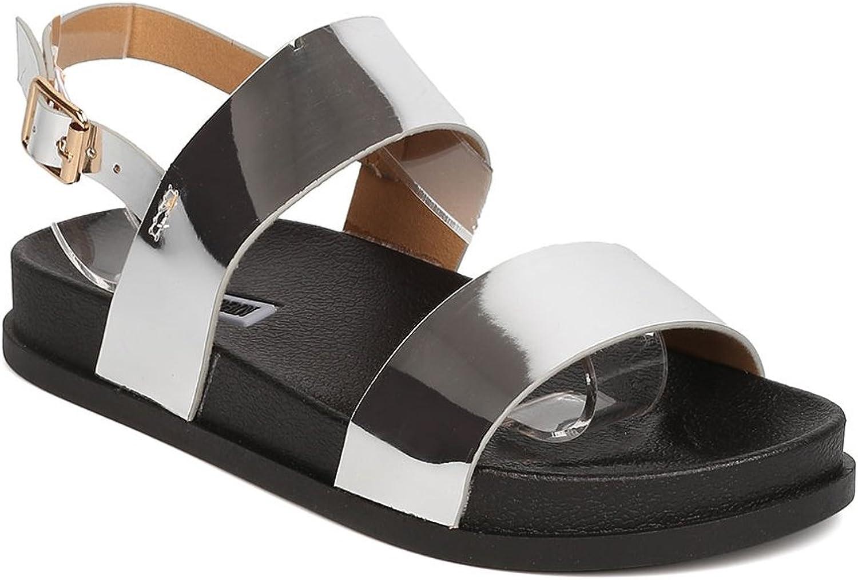 Cape Robbin kvinna Metal Artificial sandales en cuir - loisirs, loisirs, loisirs, piscine - sandales à lacets - gd13  Alla varor är specialerbjudanden