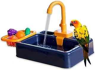 FYBlossom Automatyczna wanna dla ptaków, zabawka dla ptaków, zabawka do kąpieli, prysznic, dozownik wody, klatka dla ptakó...