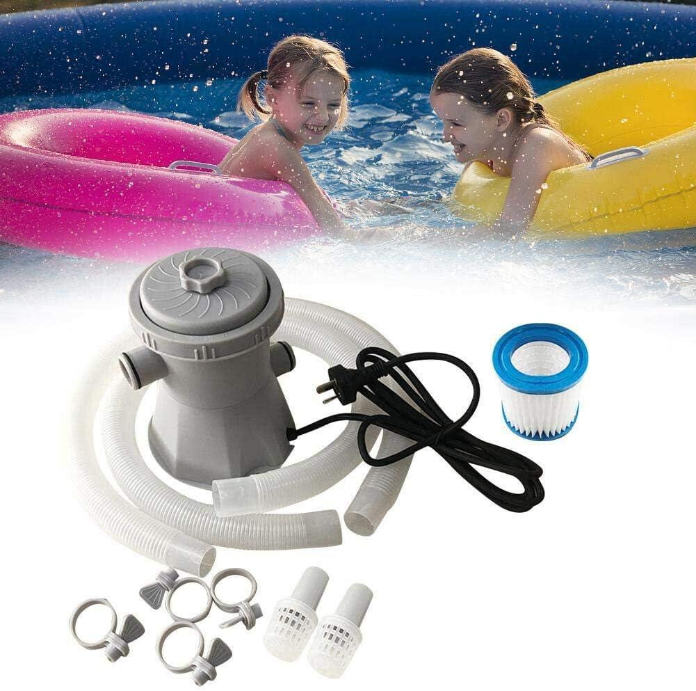 Lst2020 - Bomba de filtro de piscina (220 V, filtro de elemento de filtro, 330 galones, herramienta de limpieza de agua circulante apta para circulación de agua caliente