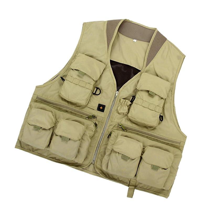 レディインタビュー楽観Perfeclan フィッシングベスト 釣りベスト ユニセックス ジャケット 旅行 キャンプ 用品 全3カラー