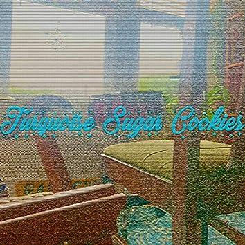 Turquoise Sugar Cookies