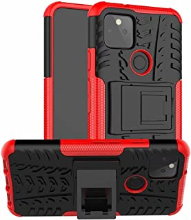 Case Compatible Xiaomi Poco F2 Pro Case with Kickstand|Tyre Pattern Design Armored Cover|Heavy Duty Rugged Double Layer Pr...