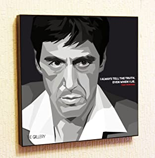 Tony Montana Godfather Cinema Artist Actor Decor Motivational Quotes Wall Decals Pop Art Gifts Portrait Framed Famous Paintings on Acrylic Canvas Poster Prints Artwork (10x10