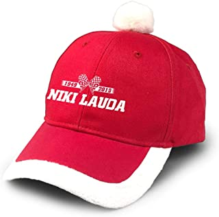 Niki-1949-2019-Text-Racer-Legend-F1-Greatest-Lauda-Flag Santa Baseball Cap and White Ball Hat Christmas Hat