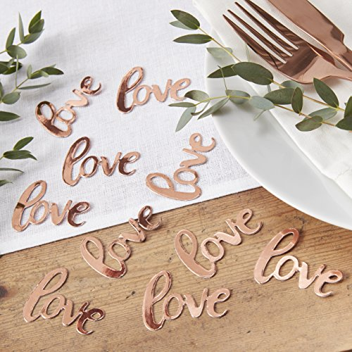 Ginger Ray Rose Gold Love Table Scatter Wedding Party Confetti Beautiful Botanics