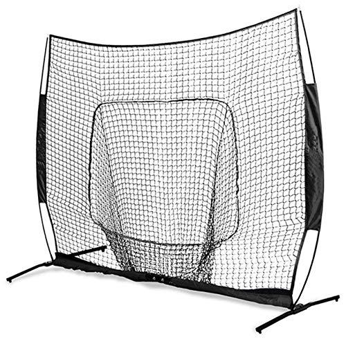 QinWenYan Redes de Práctica de Béisbol Red Duradero de la práctica de béisbol de Softball portátil de 7 x 7 pies con la Bolsa de Arco Marco de Entrenamiento de softbol Outdoor para Golf Baseball