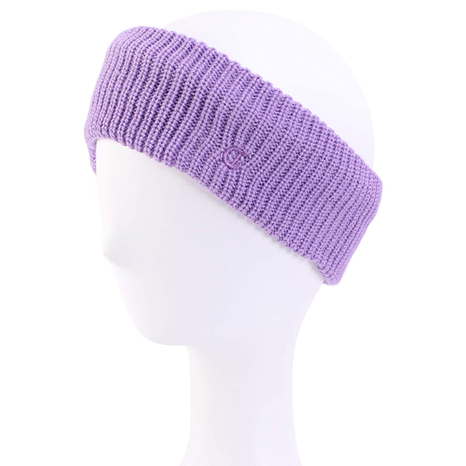 Women Winter Knitted Headband D Letter Embroidery Solid Wide Headwrap Ear Warmer,Band Rope