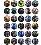 30 x Edible Cupcake Toppers - Avengers Movie...