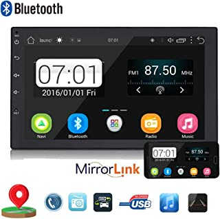 Backup Camera + Double 2Din 7 Touchscreen in Dash Stereo Android Car Navigation Stereo 1G RAM+16G ROM Car Entertainment Multimedia Radio,FM AM Radio/GPS/WiFi/Mirror Link