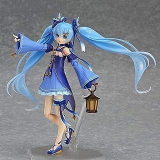 No Hermoso Regalo de Anime Hatsune Miku Modelo Hecho a Mano Estatua de Personaje de Anime Virtual Idol Blue Star Girl Modelo de Anime Snow Elf Movable 14cm