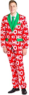 Men's Christmas Suit Ho Ho Holla Blazer+Tie and Pants (Sold Separately)