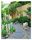 HLMBQ Rosenbogen 170x252x40cm Metall Pergola Rankhilfe Rankgitter Torbogen Rankbogen wetterfest Gartenbogen,Schwarz,Kletterpflanzen Terrasse