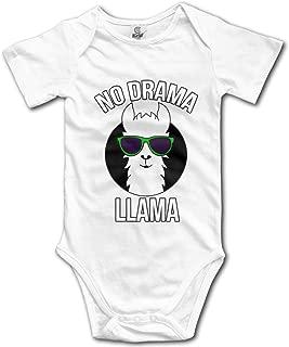 Baby's No Drama No Llama Short Sleeve Climbing Bodysuits Playsuit Clothes