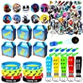 NEZUKO Game Party Supplies for Kids, 100 Pcs Party Favors - Gift Box, Bracelet, Key Chain, Button Pins, Stickers, Finger Light for Kids Themed Party from Nezuko