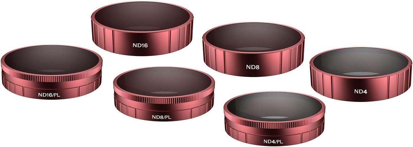 ND32, ND64, ND32PL, ND64PL SKYREAT Lente de la c/ámara Juego de filtros ND Juego de 4 Compatible con la c/ámara de acci/ón Osmo dji