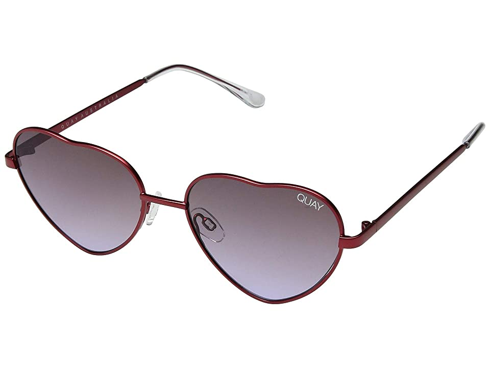QUAY AUSTRALIA Kim (Red/Purple Fade) Fashion Sunglasses