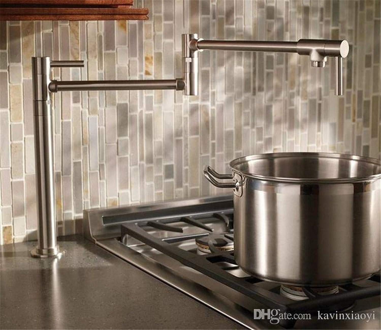 Decorry Massivem Messing Pot Filler Tall Tap Deck Montage Küchenarmatur Einzigen Kaltwasser Gebürstet Nickel Farbe New