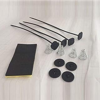 DGdolph Accesorio para automóvil Kit de Montaje de Ventilador de radiador eléctrico Individual Almohadillas de Correa de sujeción Negro