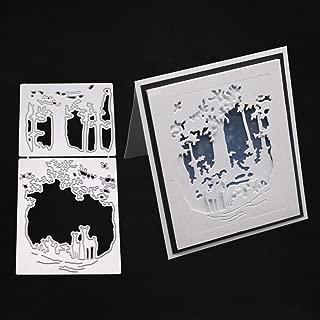 Christmas Deer Metal Dies Cuts for Card Making Stencil DIY Scrapbooking Card Silver