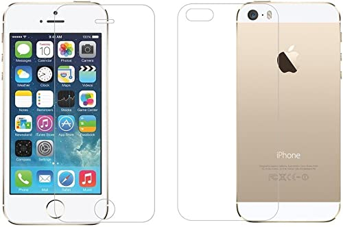 M G R J Tempered Glass Screen Protector For Apple Iphone SE Front Back