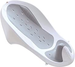 Syki Baby Bath Support - Baby Bathtub Seat Designed for Newborns to 6 Months -  Suitable for Boys and Girls – Makes Bath Time Fun and Easy - Grey