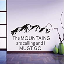 50X70Cm Wall Stickers Outline The Mountains Are Calling And I Must Goliving Room Removable Hot Vinyl Decals Home Decor