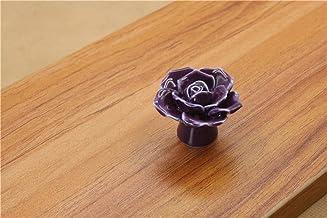 Keramische bloem Rose lade knoppen landelijke kast kast handgrepen 41mm diameter 34mm hoogte mode meubilair handgrepen har...