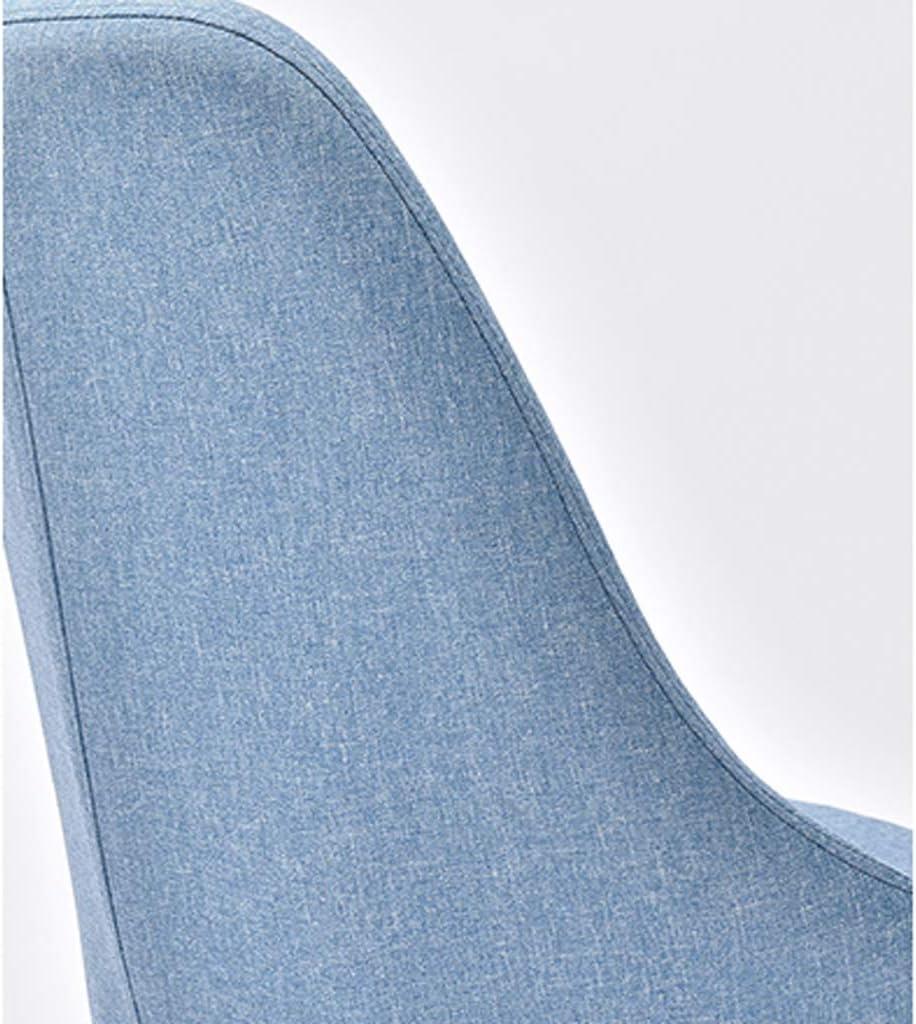 XXT Chaise de salle à manger, simple chaise de bureau, dossier créatif, chaise de loisirs, chaise de salle à manger pour adulte, durable (couleur : kaki) Bleu