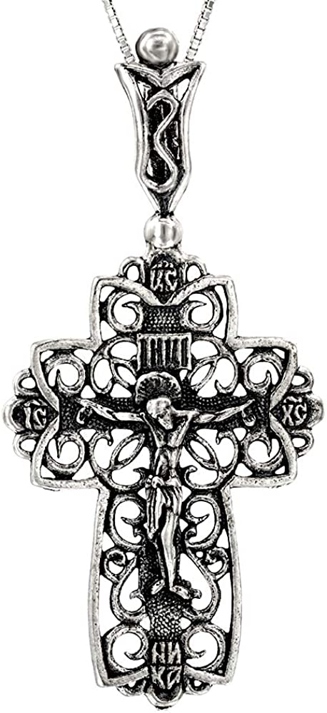 Cross Necklace 正規取扱店 for Women and 推奨 Men Rhodium 925 Plated Sterling - S