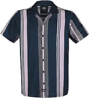 Dickies Forest Park Hombre Camisa Manga Corta Azul Oscuro, Regular