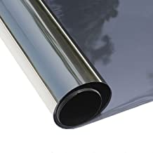 Concus-T Window Tinted Film Heat Control Anti UV One Way Privacy Solar Film Home Office Security Static Cling No Glue Easy to Use, Black 23.62×78.74Inch