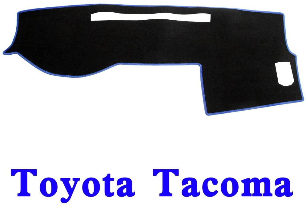 Black-Blue MR-006 Anti-Glare JIAKANUO Dash Cover Fit for Toyota Tacoma 2016-2018,Dashboard Mat Sunshield Protector Pad Non-Slip,Extra Thick