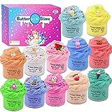 Paquete de 12 mini manteca perfumada, caramelo de animales y limo de frutas, juguete para aliviar el estrés para niñas y niños, súper elástico y no pegajoso