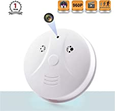 Smoke Detector Spy Camera, MaQue Upgrate Hidden Cameras Loop Recording Video Security Nanny Cam with Night Vision HD Motion Detection Spy Camera Safety Wall Camera