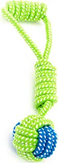 lovely-xj Transfer Pet Supply Dog Toys Dogs Chew Teeth Clean Outdoor Training Fun Playing Green Rope Ball Toy for Large Small Dog Cat