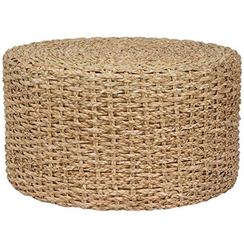 Oriental Furniture Rush Grass Knotwork Coffee Table/Ottoman - Natural