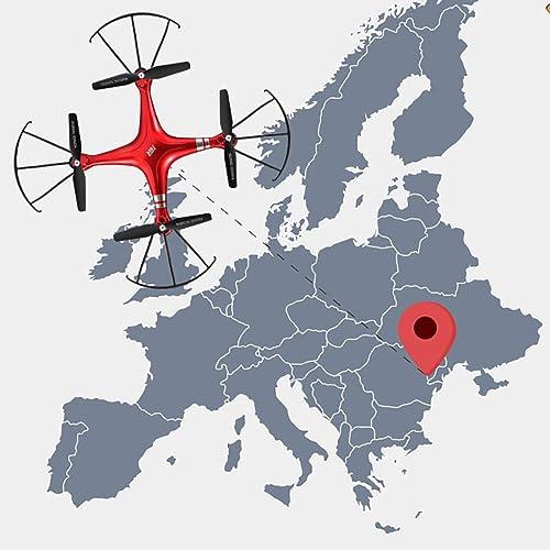 NuoEn UAV Drone HD 1028P Photographie Aérienne Longtemps Quadricoptère Aéronef pour Enfants Et Drone Débutant avec GPS Jouet ( Couleur   rouge )