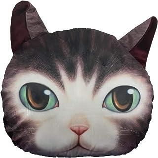 Cojín 3D Gato, Perro, Oso, Tigre - cojin Almohada 3D Perro Doge Dog Meme, Bull Dog, Gato Feo - Peluche Animales 3D (Gato Negro)