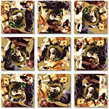 Scramble Squares Retrievers 9 Piece Challenging Puzzle - Ultimate Brain Teaser and Mind Game for Young and Senior Alike - Engaging and Creative With Beautiful Artwork - By B.Dazzle