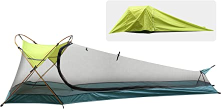 Rhino Valley Camping Tent, Waterproof Portable Lightweight Single Person Outdoor Instant Cabin Tent, Sun Shelter for Camping, Hiking, Riding, Trekking, Mountaineering, Green & Army Green