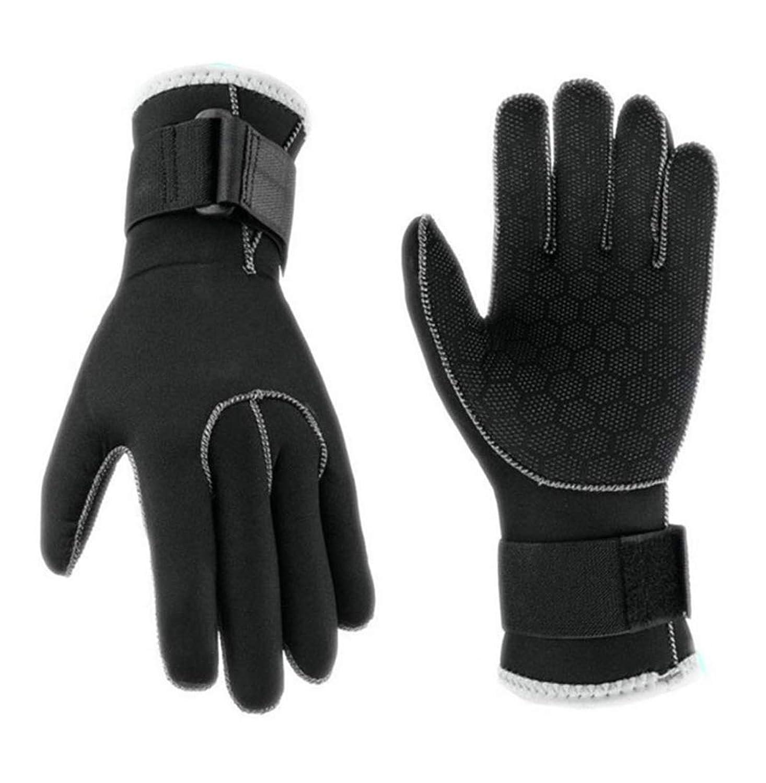 3ミリメートルダイビンググローブ冬のスイミンググローブアンチスクラッチウォーム手袋屋外スポーツのスリップウェア