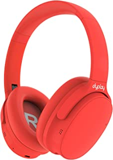 Active Noise Cancelling Headphones, dyplay ANC Over-Ear Wireless Bluetooth Headphones with Dual-Mic Deep Bass, Comfortable Protein Earpads Wired Mode Foldable Headset for TV Cellphone Travel Work