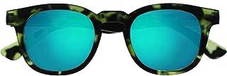 Opulize Bay Rispecchiato Di Spessore Giro Uomo Donna Tartaruga Verde Opaco Lettori Sole Occhiali Da Lettura UV400 S97-6 +3,00