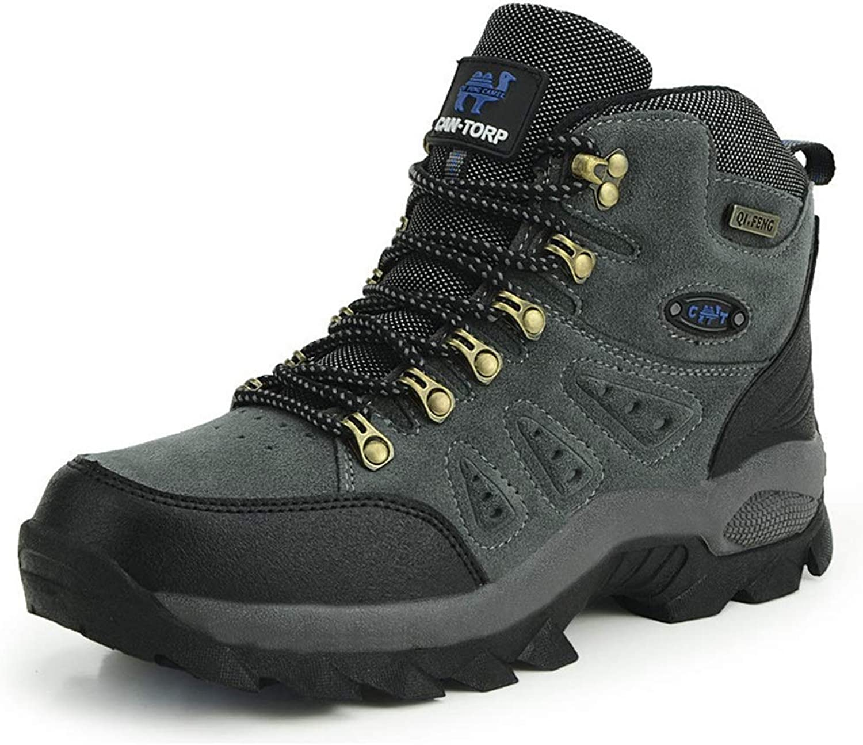Women's Outdoor Hiking shoes, Mountain Camping Outdoor Sports shoes Couple Non-Slip Wear Hiking shoes High-top Hiking shoes Mountain Climbing shoes