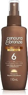 Óleo Bronzeador Spray Fps6, Cenoura e Bronze