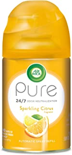Air Wick Pure Freshmatic Refill Automatic Spray, Sparkling Citrus, 1ct, Air Freshener, Essential Oil, Odor Neutralization, Packaging May Vary