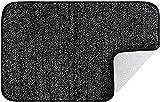 Cumay Felpudo interior superabsorbente superabsorbente con parte trasera de goma antideslizante, lavable para entrada en casa, cocina, baño, patio, oficina, pasillo (negro, 50 x 80 cm)