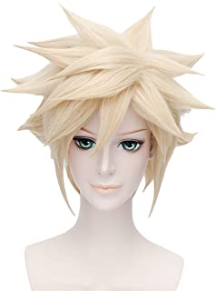 Cosplay Costume Wig for Final Fantasy VII Cloud Strife Short Anime Hair Blonde