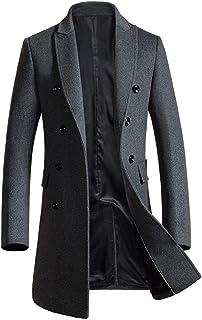 メンズ コート ウール チェスターコート 冬コート ダブルブレスト ロングコート 通勤 ビジネス オシャレ トレンチコート